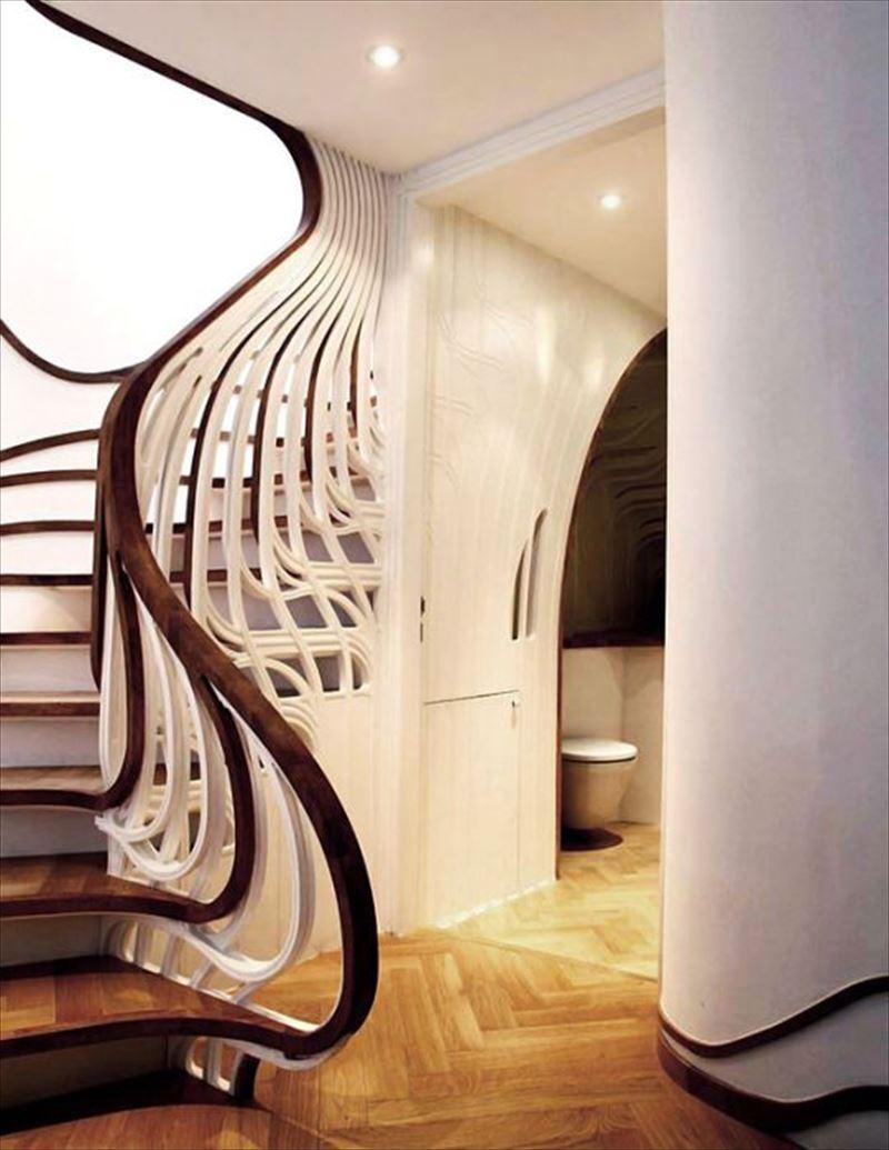おしゃれで変わったかっこいい階段026