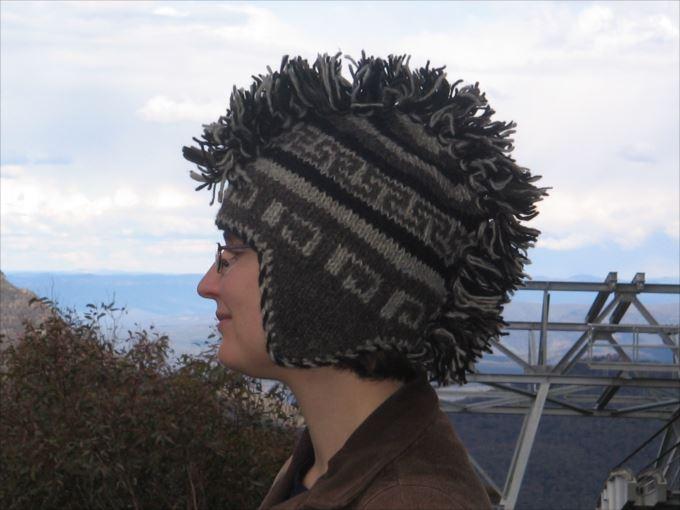 変わった帽子85
