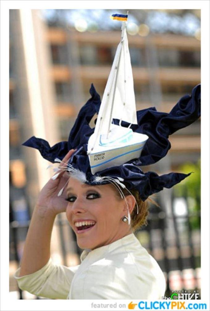 変わった帽子99