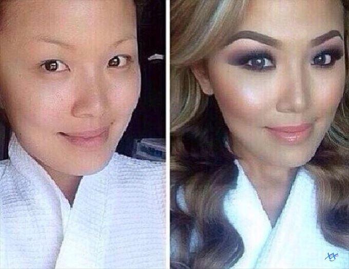 化粧の力20
