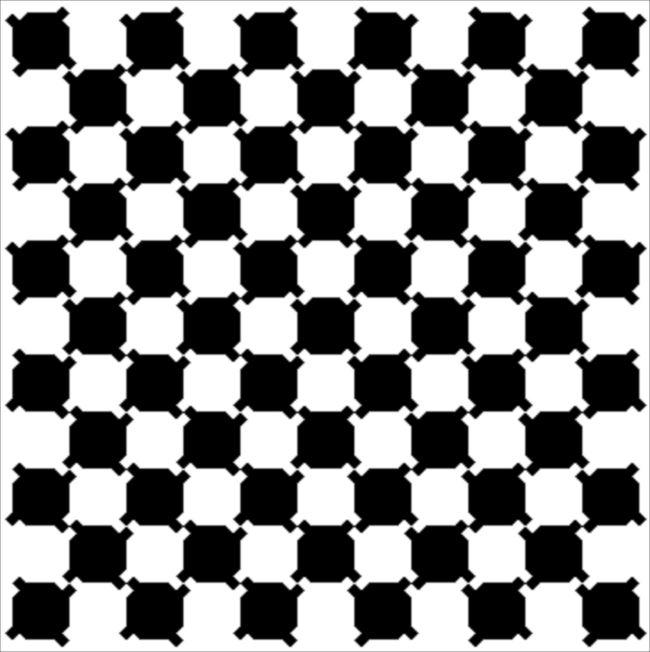 すべて直線になっている、だまし絵