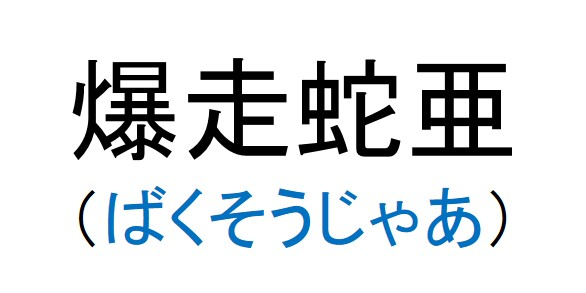 42_爆走蛇亜(ばくそうじゃあ)