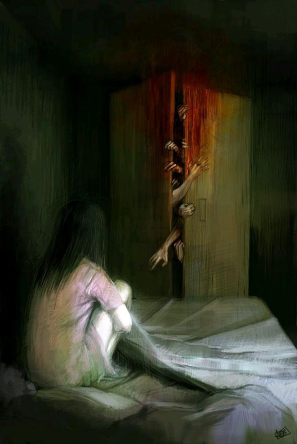 心が乱されるダークな怖いイラスト作品57枚 Ailovei